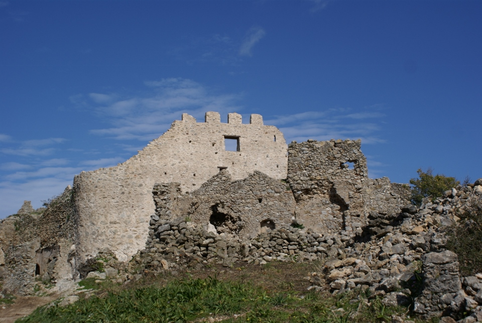 The island Kythera - the ruins of Palechora
