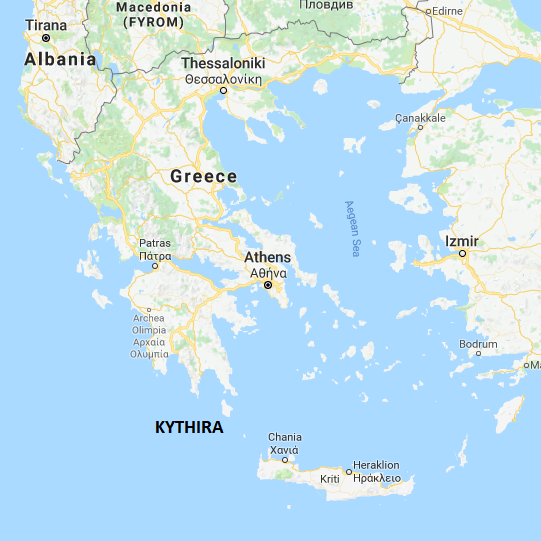 Map of Greece Xenonas Fos ke Choros a Greek island