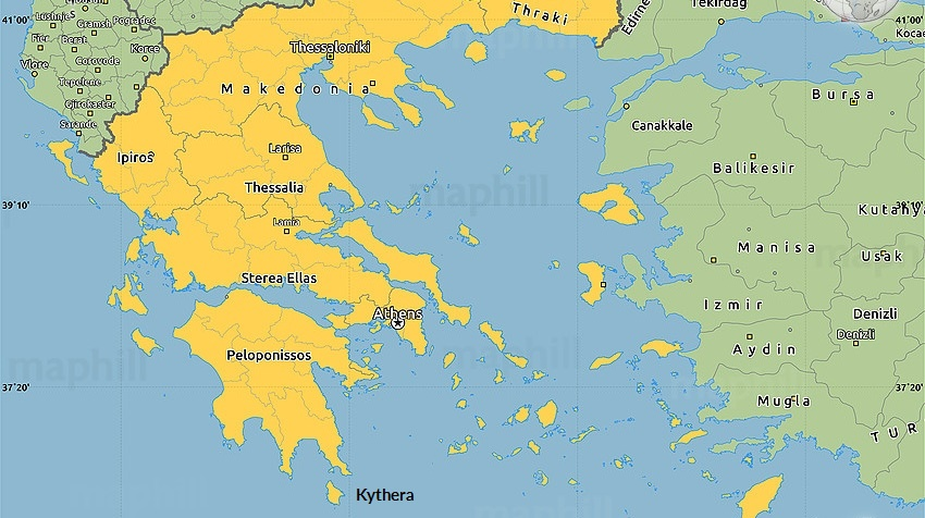 Map of greece xenonas fos ke choros a greek island gumiabroncs Gallery