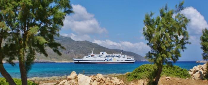 Traveling to Kythera - port of Kythera