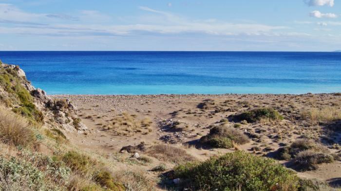 Stranden van Kythira - Vlichada beach