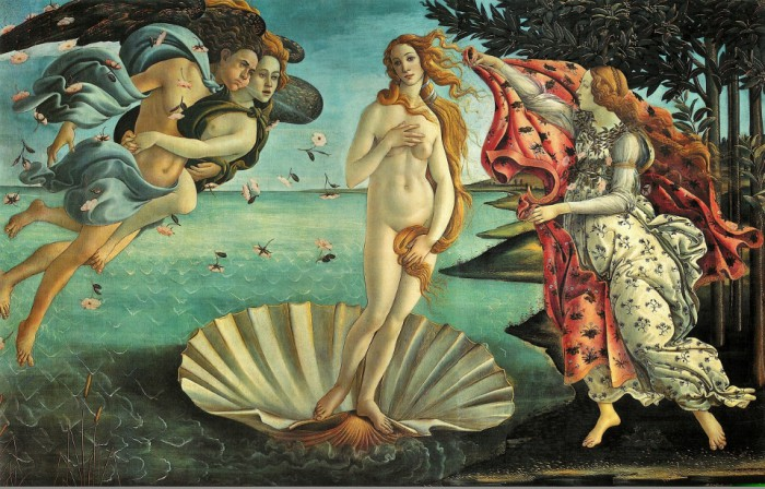 The island - Aphrodite in the version of Botticelli