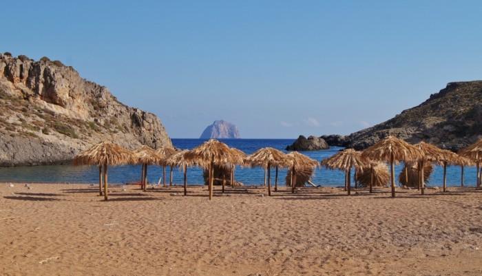 Stranden van Kythira - Melidoni beach