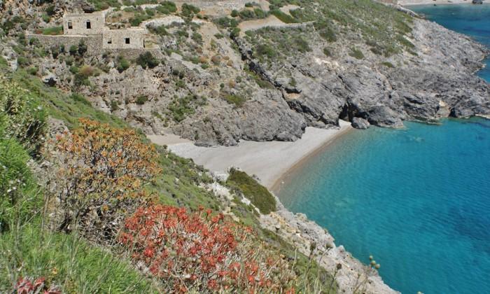 Stranden van Kythira - Sparagario